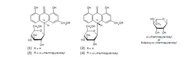 struktur kimia senyawa pada aloe vera - tanaman obat taman husada